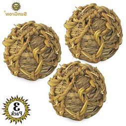 SunGrow Natural Seagrass Ball - Perfect & Safe Chewable Teet
