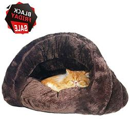 Make you perfect Self-Warming Cat Bed Cozy Cave Covered Dog