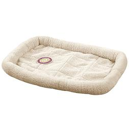 Slumber Pet Sherpa Crate Beds  - Comfortable Bumper-Style Be