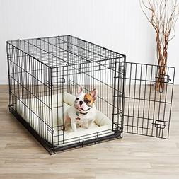 singledoor dog crate padded bolster