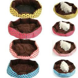 Small/Large Pet Bed Dog Cat Bed House Kennel Doggy Warm Cush