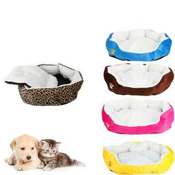 Small Medium Pet Dog Puppy Cat Soft Fleece Cozy Warm Nest Be