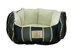 Small Pet sofa Stripe Green Dog Bed for Small Dog and Cat