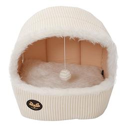 SODIAL New Luxury Pet Dog Cat Tent House Cat Bed Puppy Bed