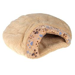 SODIAL Pet Cushion Half Covered Bed New Winter Warm Pet Dog