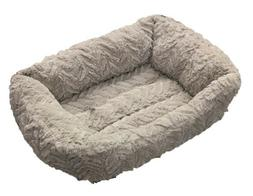 """Soft & Fluffy Dog Cat Pet Bed 20"""" x 17"""" Small Grey"""