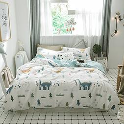EnjoyBridal Soft Cotton Dinosaur Bedding Duvet Cover Sets Tw