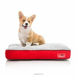 Soft Cozy Memory Foam Dog Bed with Removable Washable Red Co