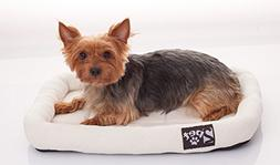 2PET Soft Padded Fleece Pet Bed Cushy Bed All Season Crate P
