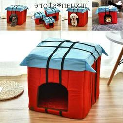 Soft Pet Bed Foldable Dog Bed Pet Products Warm House Cat Po
