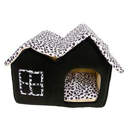 Soft Portable Pet Dog House Bed British Style Pattern Puppy