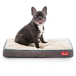 Brindle Soft Velour Pet Bed, Mocha Blue, Small 22 x 16