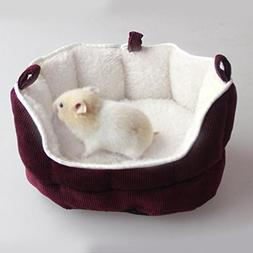 ETbotu Soft Warm Hamster Bed Pet House Cushion Hammock Blank