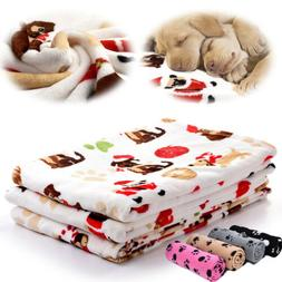 Soft Warm Pet Flannel Blanket Bed Mat Pad Cover Cushion For
