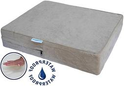 Go Pet Club Solid Memory Foam Orthopedic Pet Bed with Waterp