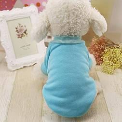 365Cor 4 Colors Solid Pet Dog Clothes Winter Small Dog Coat