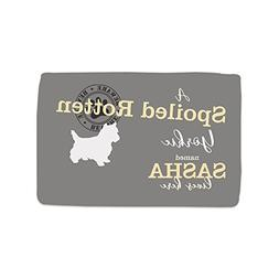 GiftsForYouNow Spoiled Rotten Dog Personalized Throw Blanket