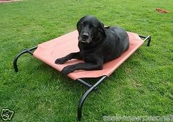 Large Steel framed Elevated Dog Bed with 2 Fabric Covers Hol
