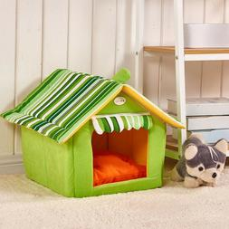 Striped Dog House Pet House Beds For Small Medium Dogs Cats
