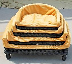 Strong Cute Dog Bed w/Cushion Cat Bed Pet Basket Pet Supplie