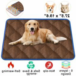 Thermal Mat - Brown Self Warming Heating Hot Pad for Pets Fo