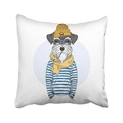 Emvency 18X18 Inch Throw Pillow Cover Polyester Navy Cartoon