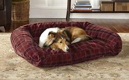 Orvis Toughchew Bolster Dog Bed Cover/X-Large, Field Tartan,