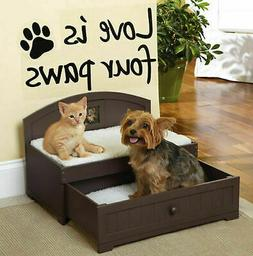 Trundle Wooden Pet Bed Furniture Dog Cat Puppy Kitten Hideaw
