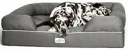 PetFusion Ultimate Dog Bed & Lounge. Jumbo XX Large Gray, 50