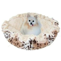Bessie and Barnie Ultra Plush Aspen Snow Leopard/ Natural Be