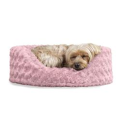Furhaven Pet Ultra Plush Oval Lounger Nap Pet Bed for Dog or