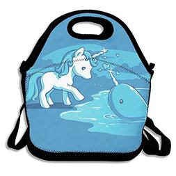 Unicorn And Narwhal Lunch Bag Lunchboxes Outdoor Travel Picn