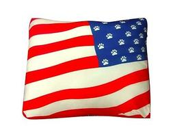 UNIQUE NEW SQUARE AMERICAN FLAG DOG BEDS BRING THE RUGGED OU