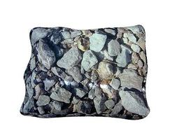UNIQUE NEW SQUARE HARD ROCKS DOG  BEDS BRING THE RUGGED OUTD