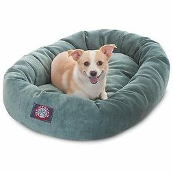 Majestic Pet VILLA BAGEL DOG BED Micro Velvet BLUE AZURE -81