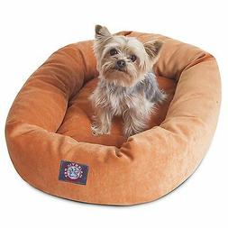 Majestic Pet VILLA BAGEL DOG BED Micro Velvet ORANGE-61x48x1