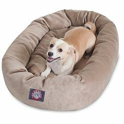 Majestic Pet VILLA BAGEL DOG BED Micro Velvet PEARL BEIGE 81