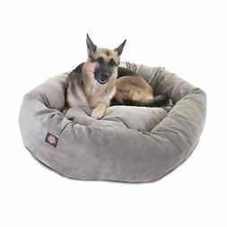 52 inch Vintage Villa Collection Micro Velvet Bagel Dog Bed