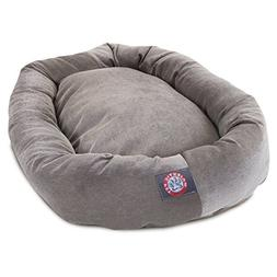 40 inch Vintage Villa Collection Micro Velvet Bagel Dog Bed