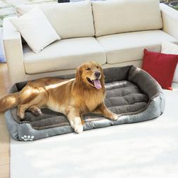 Warm Dog Bed Soft Ployester Pet Bed Plus Size for Large Dogs