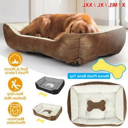 Soft Warm Pet Bed Dog Cat Cozy Cushion Mats Machine Washable