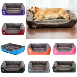 warm pet dog large bed cushion kennel