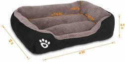 Fristone Warming Dog Beds for Medium Dogs-, Rectangle W