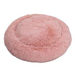 AIDELAI Washable Fluffy Pet Pad Cushion Bed, Round Fleece Ca