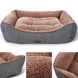 Washable Premium Dog and Cat Bed/Lounge With Soft Sides -