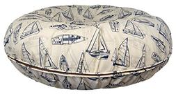 BESSIE AND BARNIE Water Resistant Navy Sail Boat Indoor/Outd