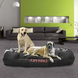 "Waterproof Jumbo Dog Bed Cushion Pillow Mattress Solid 10"" T"