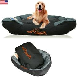 Waterproof Large Dog Bed Heavy Duty Bolster Pet Padded Cushi