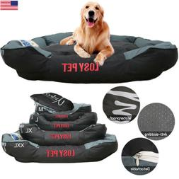 Waterproof Orthopedic Large Dog Bed Cuddler Lounger Soft Pil