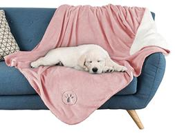 "PETMAKER Waterproof Pet Blanket-50""x 60"" Soft Plush Thro"